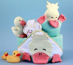 Hooded Ducky Towel Set