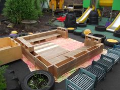 Learning for Life: Outdoor Play Party - Hollow Blocks. Outdoor Learning, Outdoor Play, Learning For Life, Outdoor Furniture, Outdoor Decor, Outdoor Ideas, Sun Lounger, Outdoor Gardens, Party
