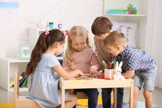 Cute little children playing in kindergarten - Stock Photo , Kindergarten Photos, Little Children, Advertising Design, Kids Playing, Entrepreneur, Preschool, Childhood, Stock Photos, Activities