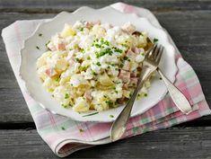 Kinkkusalaatti | Valio Potato Salad, Potatoes, Ethnic Recipes, Food, Potato, Essen, Meals, Yemek, Eten