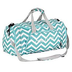 MOSISO Water Resistant Gym Sports Dance Travel Weekender Duffel Bag with Shoe Compartment, Chevron Hot Blue Chevron, Mens Gym Bag, Sacs Design, Hot Blue, Bags For Teens, Best Gym, Hospital Bag, Leggings, Fashion Bags