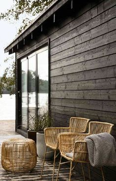 Outdoor living - House Doctor - 12 of the best rattan armchairs Outdoor Spaces, Outdoor Chairs, Outdoor Living, Outdoor Furniture Sets, Outdoor Decor, Balcony Chairs, Rattan Garden Furniture, Balcony Furniture, Outdoor Seating