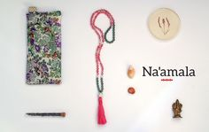 Na'amala Love Makes Knots Meditation Mala Beads, lavender flaxseed Eye pillows and more handmade accessories to inspire you everyday to step onto your spiritual journey.