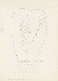 View Femme au dos By Henri Matisse; Access more artwork lots and estimated & realized auction prices on MutualArt. Matisse Drawing, Picasso Drawing, Matisse Art, Painting & Drawing, Figure Drawing, Line Drawing, Drawing Sketches, Art Drawings, Henri Matisse