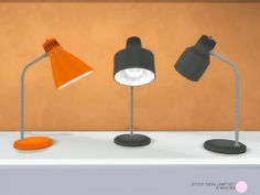 The Sims Resource: Study Desk Lamp Set by DOT • Sims 4 Downloads