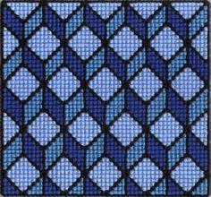 Optical illusion cross-stitch by Alondra-chui