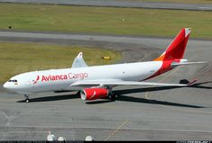 First aircraft wearing the new cargo branch of Avianca, previously known as Tampa Cargo.