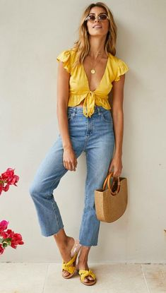 45 Genius Spring Outfits You Should Already Own, Summer Outfits, 45 Genius Spring Outfits You Should Already Own / 023 Mode Outfits, Chic Outfits, Trendy Outfits, Fashion Outfits, Womens Fashion, Ladies Fashion, Spring Summer Fashion, Spring Outfits, Autumn Fashion