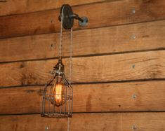 Industrial wall lighting vintage wall sconce double by GoPioneers