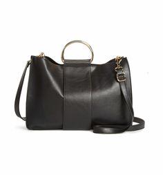 Main Image - BP. Metal Handle Faux Leather Satchel