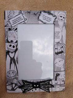 "Disney's Nightmare Before Christmas ""Jack Skellington"" Decoupaged Picture Frame  https://www.etsy.com/listing/178834048/disneys-nightmare-before-christmas-jack?ref=listing-shop-header-3"
