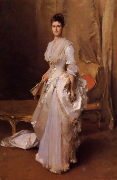 Henry White (Margaret Daisy Stuyvesant Rutherfurd) - Portrait by American artist: John Singer Sargent, ~ {cwl} Beaux Arts Paris, Oil Painting Reproductions, Woman Painting, Oeuvre D'art, American Artists, Art History, Art Gallery, Sketches, Fine Art