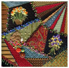 """Be one of the first to stitch Kelly's latest masterpiece """"Crazy Quilt"""" before it hits the shops. Description from bestitchedneedlepoint.com. I searched for this on bing.com/images"""
