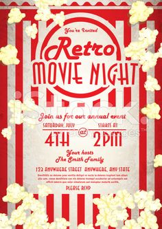 Movie Night Flyer Template  Flyerheroes  Graduation
