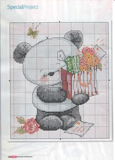 Bamboo Panda - Cross Stitch Crazy
