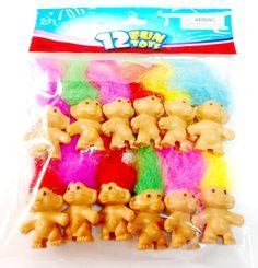 12X Toys Mini Lucky Troll 4cm Pencil Top Fun Party Favor Toy Game Wholesales Vending Fun Gift Bags Novelty