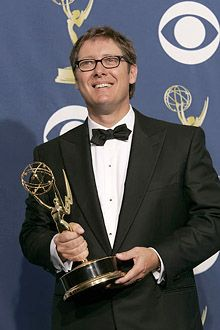 """James Spader' 74, winner of the Outstanding Lead Actor in a Drama Series for """"Boston Legal"""" at the 57th Annual Emmy Awards in 2005.  http://www.tvguide.com/celebrities/james-spader/photos/155526/42759#"""