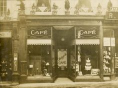 The front of the first Bettys Café, opened in 1919 at 9 Cambridge Crescent, Harrogate.