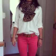 Lepord and hot pink! CUTE! Tommroows out fit for sure!