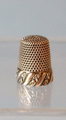 Antique Sterling Silver Thimble Ornate Band Marked M Sterling. | eBay