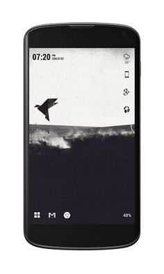 Simple and minimal android home screen layout