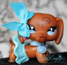 Littlest Pet Shop ❀ LPS ❀ RARE CHOCOLATE DACHSHUND SWIRL FANCY DOG # 640 in Toys & Hobbies | eBay