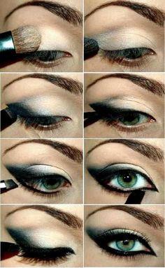make-up trends smokey eyes unwiderstehlich schminken Eye Makeup Steps, Cat Eye Makeup, Smokey Eye Makeup, Love Makeup, Skin Makeup, Makeup Tips, Beauty Makeup, Makeup Looks, Makeup Tutorials