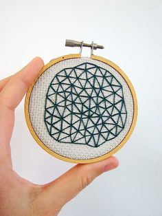Embroidery by @Abbey Adique-Alarcon Adique-Alarcon Hendrickson  - loves me some facets!