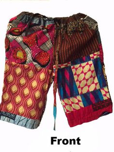 African Patch Shorts