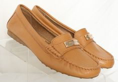 c3ef3c8ff49 Coach Fredrica Tan Leather Pebbled Moc-Toe Flat Loafer A5175 Women s US 6 B   fashion  clothing  shoes  accessories  womensshoes  flats (ebay link)