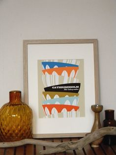 Cathrineholm, Kitchen Art, Retro Poster, enamel ware, Kitchen Decor by ArtMii
