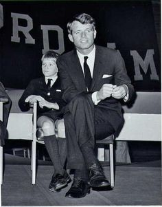 David and RFK at Fordham University, New York campaigning for the senate - November 2,1964