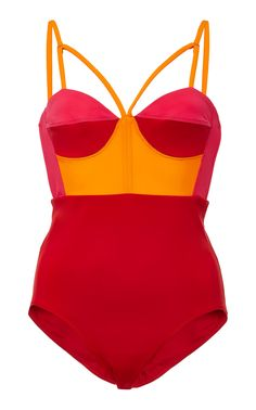 a0a22300b7789 Rpb Color-Blocked Bustier Swimsuit. Strappy Bathing SuitBathing SuitsRed SwimsuitOne  Piece SwimsuitColor BlockingSwimwearWomens ...