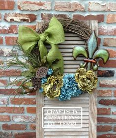 Grapevine wreaths. Please visit www.Etsy.com/shop/CreatedByTerri  or www.facebook.com/CraftsandCreationsByTerri for updates and contest giveaways!!!