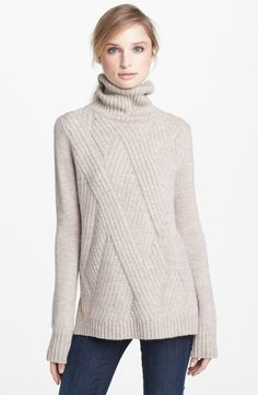 Vince 'Travelling' Ribbed Turtleneck Sweater