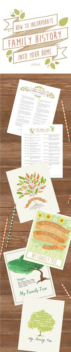 How to incorporate family history into your home. #LDS