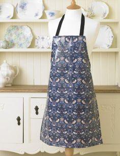 fdec3a889b8 Laura s Beau William Morris Strawberry Thief PVC Floral Adult Apron  Amazon. co.uk  Kitchen   Home