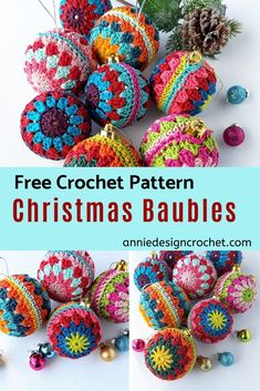 Crochet up a festive storm with this easy free pattern for Christmas crochet baubles. Perfect for gifts and craft fairs. Crochet up a festive storm with this easy free pattern for Christmas crochet baubles. Perfect for gifts and craft fairs. Christmas Crafts Sewing, Christmas Craft Fair, Crochet Christmas Decorations, Crochet Ornaments, Crochet Decoration, Christmas Crochet Patterns, Holiday Crochet, Noel Christmas, Christmas Knitting
