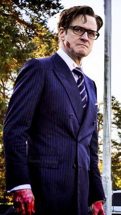 Colin Firth as Harry Hart in Kingsman: The Secret Service ; Kingsman: The Golden Circle Kingsman Suits, Kingsman Harry, Kingsman Movie, Taron Egerton Kingsman, Eggsy Unwin, David Morrissey, Ivy League Style, Michael Weatherly, Movies
