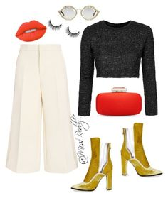 """""""Untitled #166"""" by missreddy on Polyvore featuring Topshop, Gucci, Joseph, Oscar de la Renta and Lime Crime"""