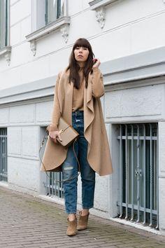"""outfit details: sleeveless coat – Zara  knit pullover – Vila jeans – Closed """"Pedal Icon"""" ankle boots – Zara  bag – Saint Laurent Monogram Université nail polish – Essie """"sand tropez"""""""