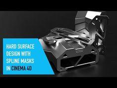 Hard surface design with Spline Mask in Cinema 4D - YouTube