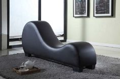 Yoga Chair Chaise Lounge Stretching Relaxation Sex Modern Bonded Leather Density #YogaChairChaiseLounge