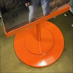 Tommy Hilfiger Table-Top Sign in Brilliant Orange – Fixtures Close Up Inspiration Boards, Favorite Color, Tommy Hilfiger, Orange, Yellow, Sign, Visual Merchandising, Table, Top
