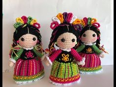 Mini María Mazahua amigurumis by Petus (English subtitles) - YouTube