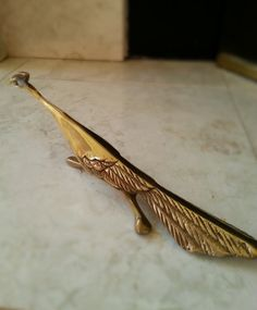 Mid-century Brass Peacock, Hollywood Regency, 50s, 60s, Retro, Vintage