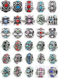 Ten (10) of Assorted Crystal Rhinestone Beads (Styles You Will Receive Are Shown in Picture Random 10 Beads Mix) Charms Spacers for Bracelets Fits Pandora, Biagi, Troll, Chamilla and Many Others Pro Jewelry, http://www.amazon.com/gp/product/B008C4E2BE?ie=UTF8=213733=393185=B008C4E2BE=shr=abacusonlines-20 via @amazon
