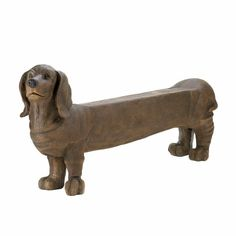 Dachshund Doggy Bench Outdoor Garden Yard Patio Furniture Indoor Living .#GH45843 3468-T34562FD202851. Dare we say this is cutest bench in existence? We do! This Dachshund Doggy Bench is adorable from top to tail and will charm your friends and family as they gaze upon his happy face and elongated body. Hes the best pet you'll ever own, with no upkeep or maintenance, and can be a great help in the entry way of your home, on your porch, and beyond!.