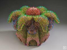 "Unique Junktique: Tuesday's Top Five Favorite Junk Finds #19 - Featuring Pencil Sculpture Art Jennifer Maestre ""Cycad"""