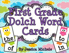Your students will love to practice reading the first grade Dolch sight words using these fun owl-themed word cards! $